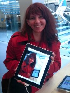 Andrea mit iPad
