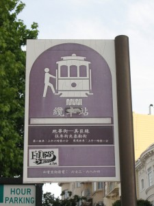 Chinese Cable Car Sign